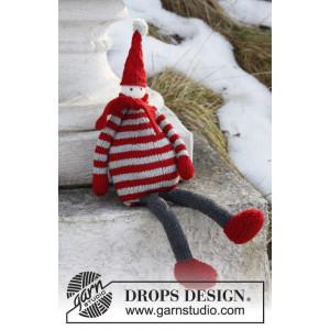 Julius by DROPS Design - Nisse Julepynt Strikkeoppskrift 36 cm