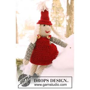 Mrs. Claus by DROPS Design - Julenisse Hekleoppskrift 35 cm