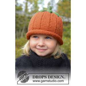 Sweet Pumpkin by DROPS Design - Lue Strikkeoppskrift str. 0/6 mdr - 7/8 år