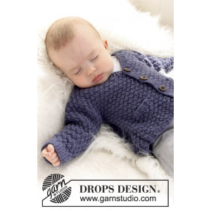 Checco's Dream by DROPS Design - Baby Jakke Strikkeoppskrift str. 1 mdr - 4 år