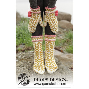 Hokey Pokey by DROPS Design - Votter og Sokker Strikkeoppskrift str. 35 - 43