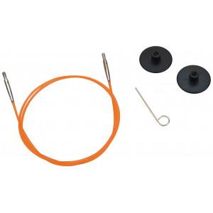 KnitPro Wire / Kabel til Utskiftbare Rundpinner 56cm (Blir 80cm inkl. pinner) Oransje
