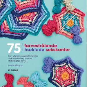 Bilde av 75 Farvestrålende Hæklede Sekskanter - Bok Av Leonie Morgan