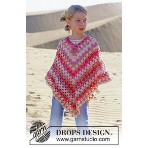 Little Sophie by DROPS Design - Poncho Hekleoppskrift str. 5 - 14 år