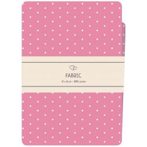 Go handmade Fat quarter / Patchworkstoff Bomull Pink med hvite prikker - 47x55cm