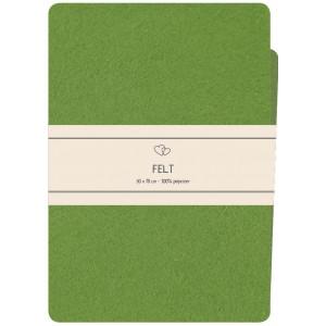 Go handmade Filt / Filtark Polyester Medium Grønn - 50x70cm