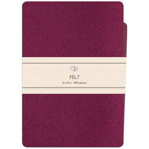 Go handmade Filt / Filtark Polyester Mørk Pink - 50x70cm