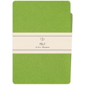 Go handmade Filt / Filtark Polyester Grønn - 50x70cm