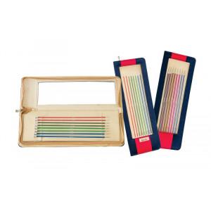 KnitPro Zing Strømpepinnesett Aluminium 20 cm 2,5-5 mm 6 størrelser