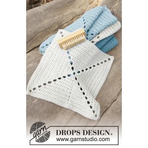 Take Care by DROPS Design - Kluter Hekleoppskrift 24x24 cm