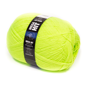 Mayflower Mega Hit Garn Unicolor 91 Neon Grønn - 400 gram