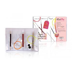 KnitPro Comby 2 Utskiftbare Rundpinnesett 60-80 cm 3-5 mm 3 størrelser