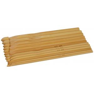 Heklenålsett Bambus 15cm 3-10mm 12 størrelser
