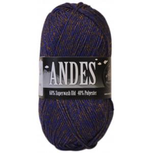 Mayflower Andes Garn Mix 23 Brun/Gylden