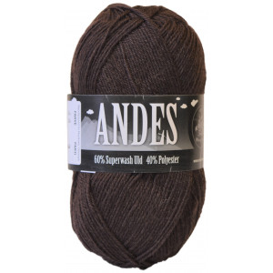 Mayflower Andes Garn Unicolor 43 Brun