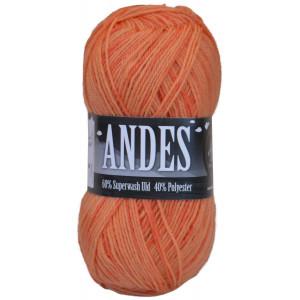 Mayflower Andes Garn Print 47 Gul/Oransje