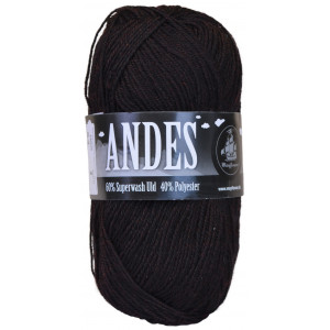 Mayflower Andes Garn Mix 53 Sort/Rød Melert