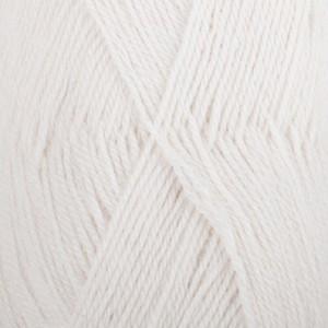 Drops Alpaca Garn Unicolor 101 Hvit