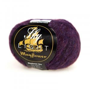 Mayflower Sky Light Garn Mix 157 Aubergine Melange