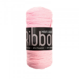 Mayflower Ribbon Stoffgarn Unicolor 108 Rosa