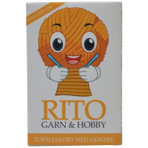 Rito Kortstokk / Spillekort 9x6 cm 52 kort + 3 jokere