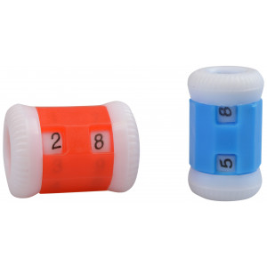 Infinity Hearts Pinneteller / Omgangsteller Ass. farger - 2 størrelser