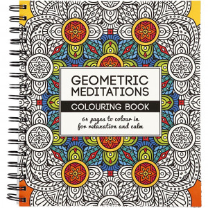 Mindfulness Malebok Geometrisk 19,5x23 cm - 64 sider