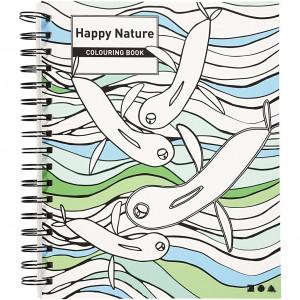 Mindfulness Malebok Glad Design 18,5x23 cm - 30 sider