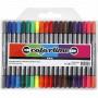 Colortime Dobbeltusjer/Tusjer Ass. farger 2,3-3,6 mm. - 20 stk