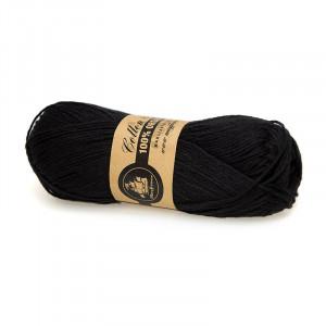 Mayflower Cotton 8/4 Organic Økologisk Garn 20 Sort / Svart