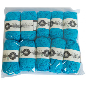 Mayflower Cotton 8/8 Økologisk Garn 2. sortering Unicolor 624 Turkis - 10 stk
