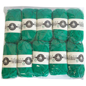 Mayflower Cotton 8/8 Økologisk Garn 2. sortering Unicolor 627 Grønn - 10 stk