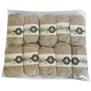 Mayflower Cotton 8/8 Økologisk Garn 2. sortering Unicolor 638 Mørk Beige - 10 stk