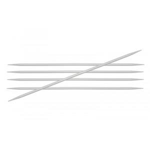 KnitPro Basix Aluminium Strømpepinner Aluminium 20cm 5,50mm / 7.9in US9
