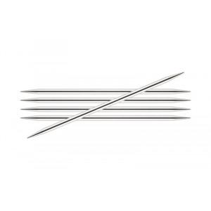 KnitPro Nova Metall Strømpepinner Messing 10cm 2,50mm / 3.9in US1½