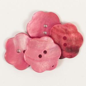 Knapp Blomst Rød 25mm 604 - 1 stk