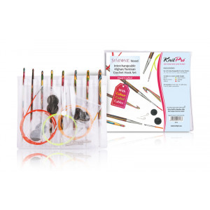 KnitPro Heklenålsett 7 størrelser 3,50-8,00 mm til Tunisisk hekling / Hakking
