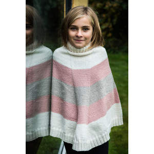 Mayflower Stripet Poncho - Poncho Strikkeopskrift str. 4 år - 12 år