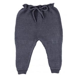 Go handmade Baby Gamasjer Mørkegrå - Bukser Strikkekit str. 3 - 6 mdr