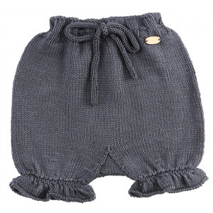 Go handmade Baby Bloomers Mørkegrå - Bleiebukser Strikkekit str. 3 - 6 mdr