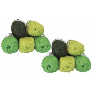 Mayflower Andes Garnpakke 10 nøster Grønn/Lime - 10 stk