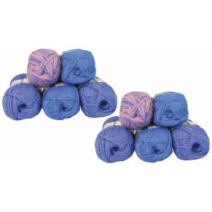 Mayflower Andes Garnpakke 10 nøster Blå/Lavendel - 10 stk