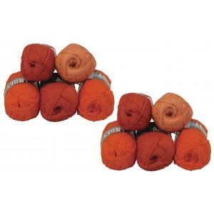 Mayflower Andes Garnpakke 10 nøgster Rust/Oransje - 10 stk