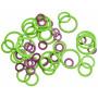KnitPro Markeringsringer Runde 3 størrelser - 50 stk