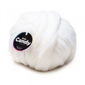 Mayflower Mega Candy Kjempe Garn Unicolor 5001 Off-White/Natur
