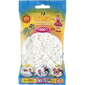 Hama Midi Perler 207-01 Hvit - 1000 stk