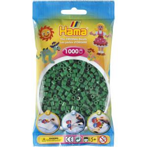 Hama Midi Perler 207-10 Grønn - 1000 stk