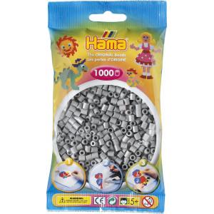 Hama Midi Perler 207-17 Grå - 1000 stk
