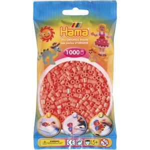Hama Midi Perler 207-44 Pastell Rød - 1000 stk