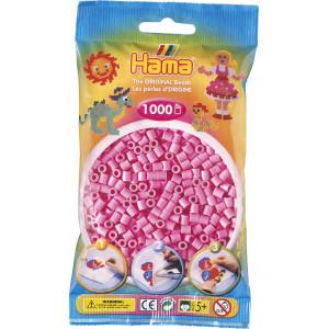 Hama Midi Perler 207-48 Pastell Pink - 1000 stk